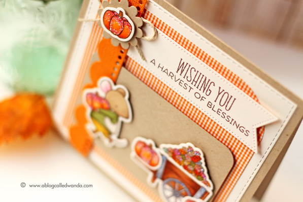 My Favorite Things Stamps. Harvest Mouse Stamp Set. Card By Wanda Guess