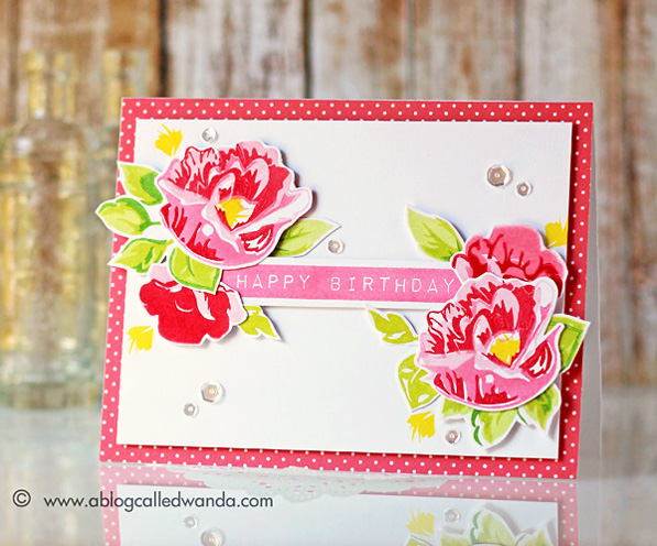 Stamptember Altenew stamp set. Card by Wanda Guess for Simon Says Stamp