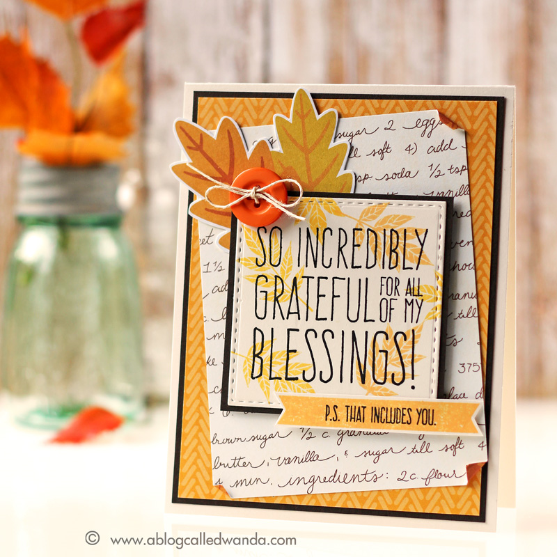 Simon Says Stamp November card kit. Card by Wanda Guess