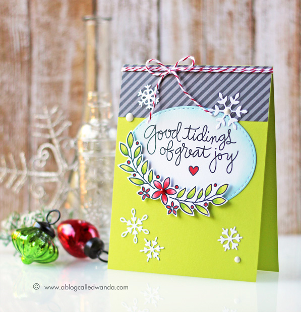 Simon Says Stamp - Create Joy release. Holiday 2015. Card by Wanda Guess  #ssssfave