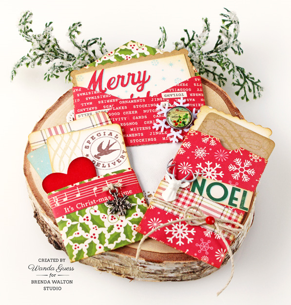 Brenda Walton Studio - project by Wanda Guess. Mini Correspondence dies from Sizzix. Christmas notes.