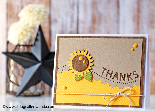 Thanks card by Wanda Guess. SSS new release. #sssfave