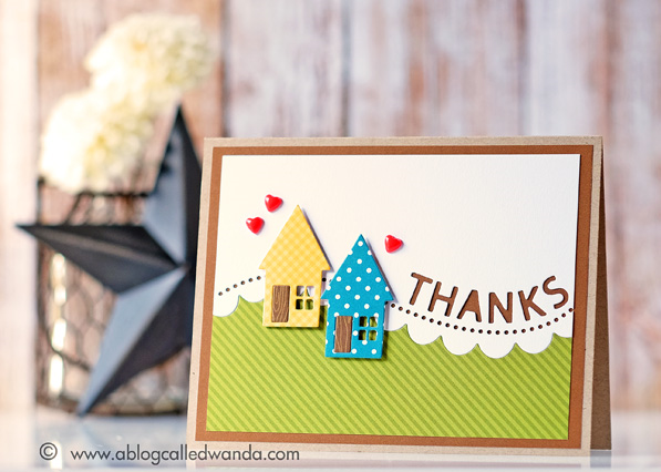 Thank you card by Wanda Guess. Simon Says Stamp mini release - From All of Us! #sssfave