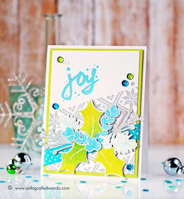 Papertrey Ink blog hop - December 2015. Card by Wanda Guess. Spruce and Sprigs stamp set