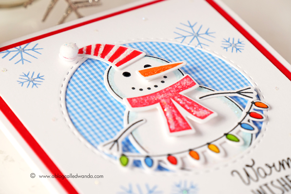 Simon Says Stamp Build a Snowman. Exclusive stamps and dies. Card by Wanda Guess #sssfave