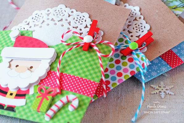 Doodebug Treat bags/gift card holders! By Wanda Guess for the SImon Says Stamp blog.