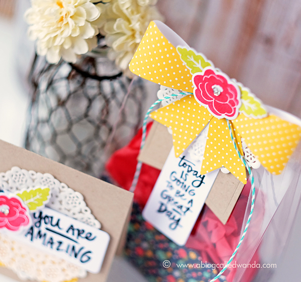 Reverse Confetti New Release Products. Treat bag and matching card by Wanda Guess