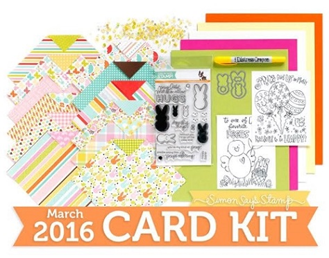Card kit march 2016 favorite peeps