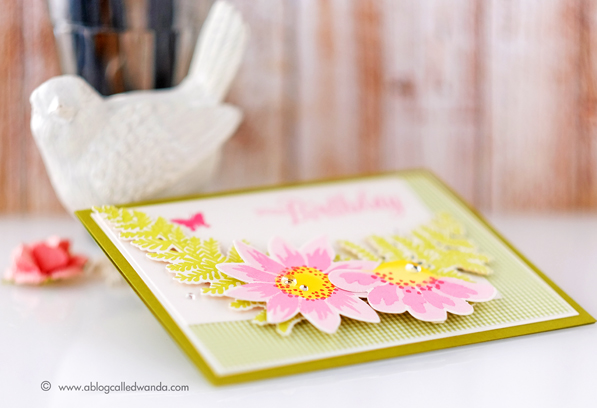 1 PTI Blog Hop February 2016. Card by Wanda Guess. Tulip Time and Painted Petals stamp sets.