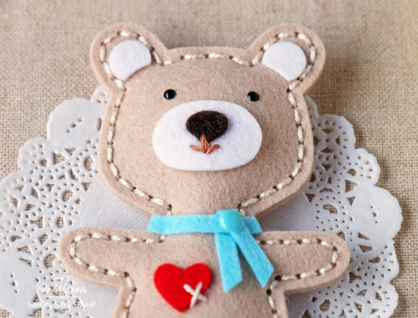 1 SIMON SAYS STAMP SPRING PLUSH RELEASE BEARS. PROJECT BY WANDA GUESS. FELT.