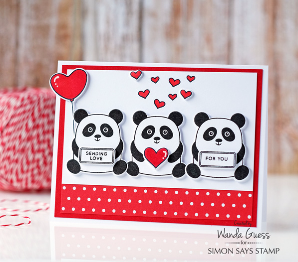 Simon Says Stamp new release blog hop! My Favorite release. Card by Wanda Guess #sssfave