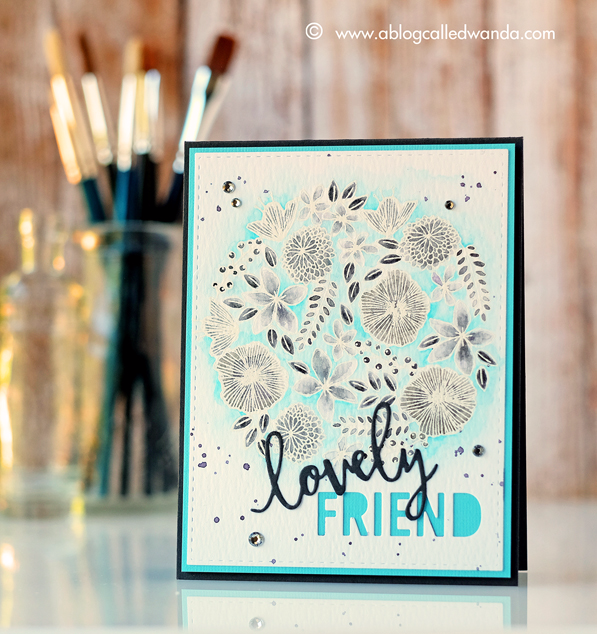 You're My Person stamp set from Concord & 9th. Floral card by Wanda Guess