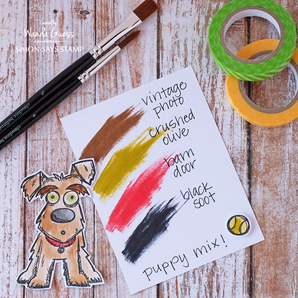 Distress Inks. Tim Holtz. Crazy Dogs. Swatches by Wanda Guess