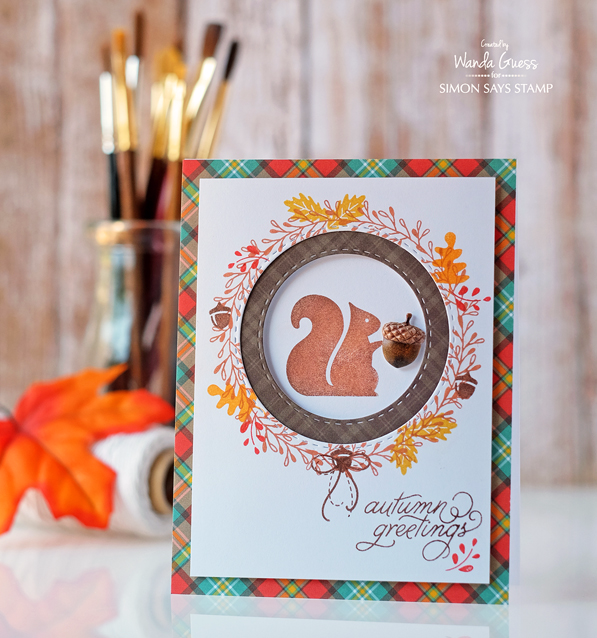 Simon Says Stamp October 2016 Card Kit. Project by Wanda Guess