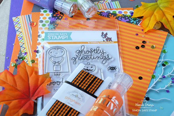 Simon Says Stamp Halloween Card Kit. 2016 Ghostly Greetings