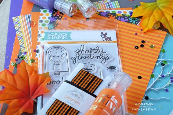 Simon Says Stamp Halloween Card Kit. 2016 Ghostly Greetings