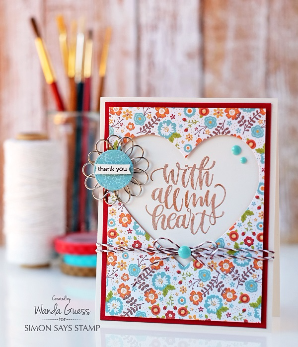 Simon Says Stamp November 2016 Card Kit. Thankful Heart. Project by Wanda Guess