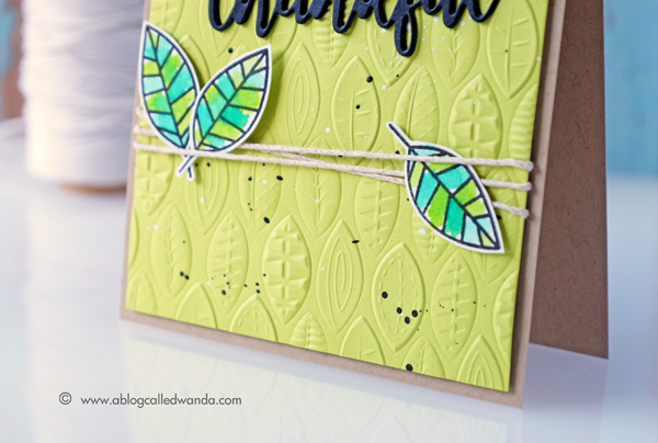Sizzix 3D embossing folder. Simon Says Stamp One with Nature Stamp Set. Distress Ink watercoloring. Card by Wanda Guess