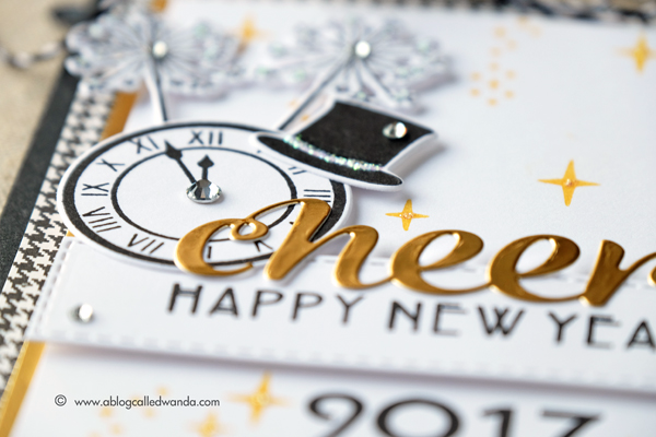 Hero Arts My Monthly Hero Kit. December 2016 Blog Hop. Project by Wanda Guess. New Year card!