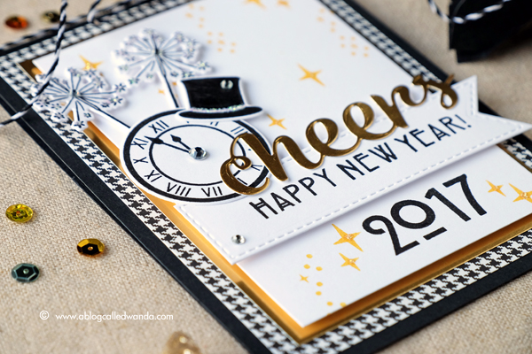 HERO ARTS NEW YEARS STAMPS AND DIES. 2017 NEW YEAR CARD