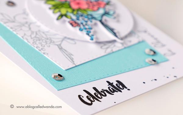 New Altenew Markers. Altenew Celebrations stamp set. Birthday card. Wanda Guess