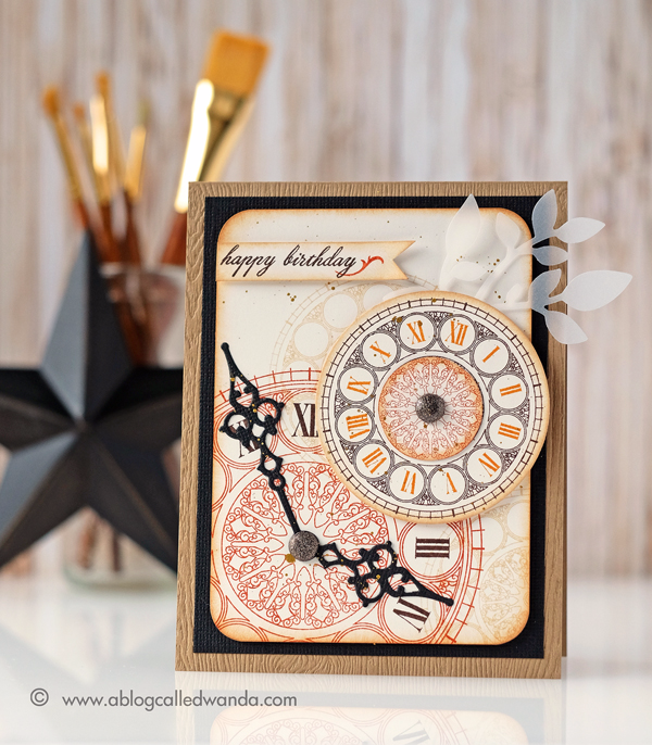 Papertrey Ink Hands of Time Stamp Set. Card by Wanda Guess. 10 Year Celebration of PTI