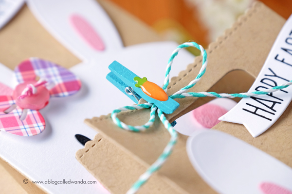 Doodlebug mini clothespins, twine and Shape Sprinkles