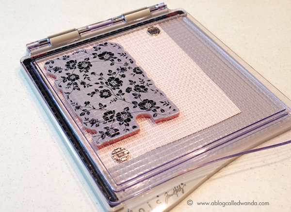 Tim Holtz Stamp Platform by Tonic Studios. Vines and Roses Tim Holtz Background stamp