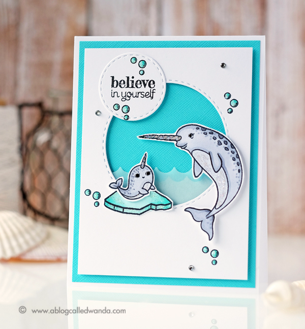 Hero Arts Narwhal Stamps. Summer Catalog Blog Hop. Project by Wanda Guess