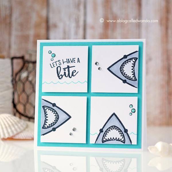 Hero Arts Shark stamps! Summer Catalog Blog Hop. Card by Wanda Guess