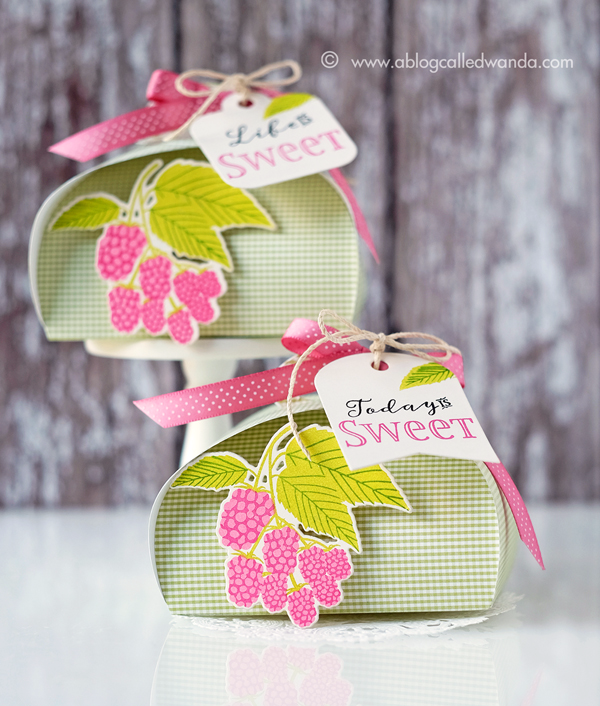 PAPERTREY INK PETAL BOX DIES. JUNE RELEASE. PROJECT BY WANDA GUESS. TREAT BOXES