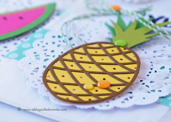 Pineapple die cut