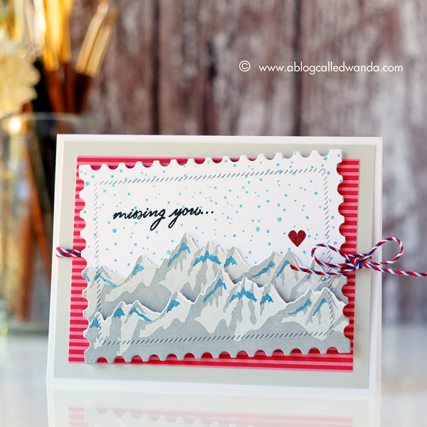 Papertrey Ink Mountain Majesty Stamp set. PTI design team Wanda Guess