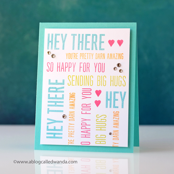 Papertrey Ink Hey Stacks stamp set