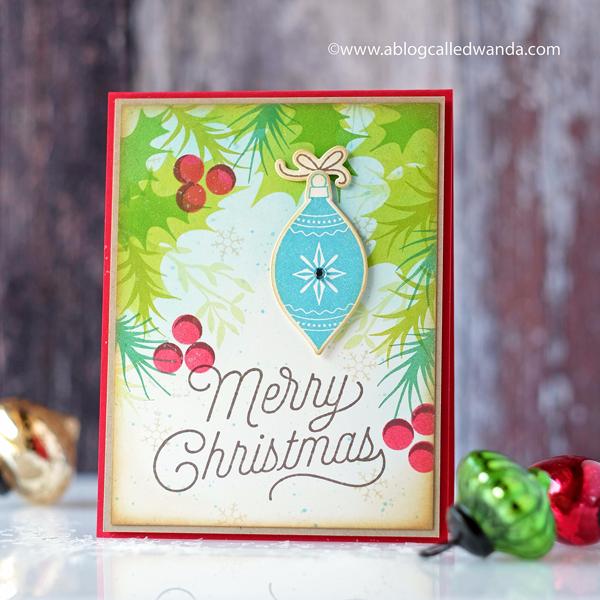 Hero Arts Christmas card. Blog Hop! Wanda Guess