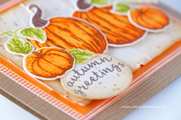 HERO ARTS PUMPKINS AUTUMN GREETINGS CARD