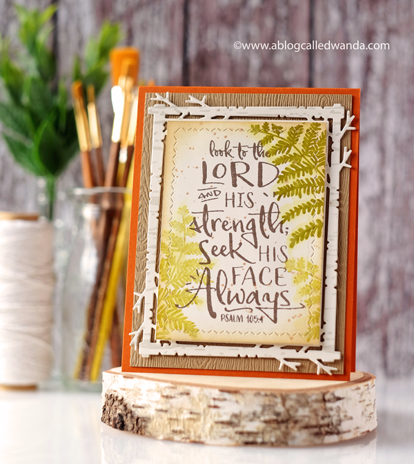 PAPERTREY INK BIRCH BACKGROUND AND YEAR OF PSALMS NOVEMBER