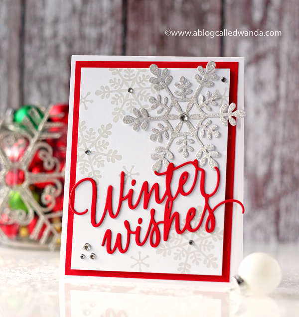 PAPERTREY INK SNOWFALL STYLE WINTER CARD