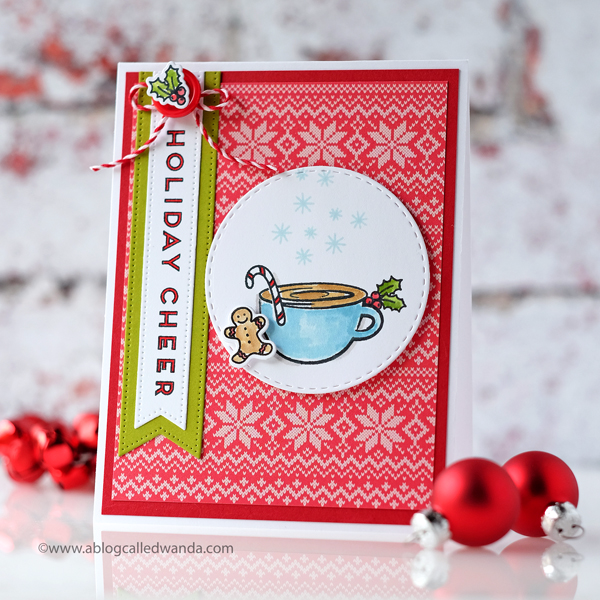 Ellen Hutson Oh Frappe stamp set. Christmas card