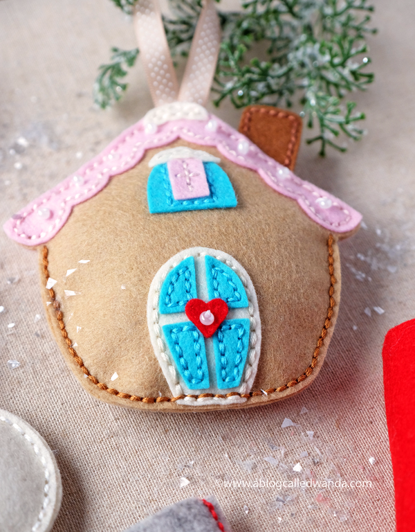 Gingerbread house ornament. handmade