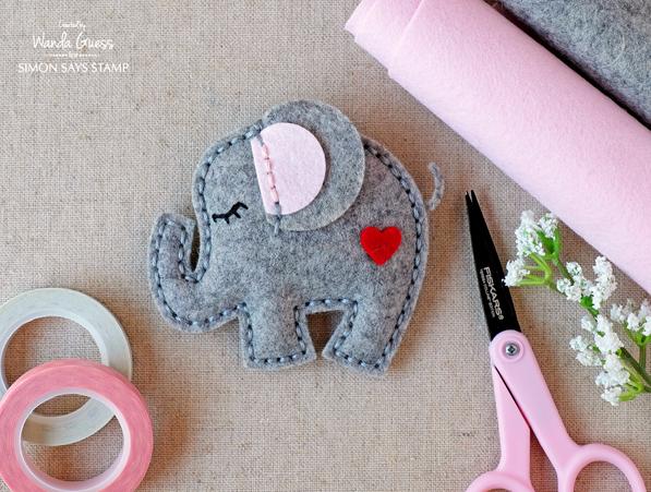 Felt plush elephant