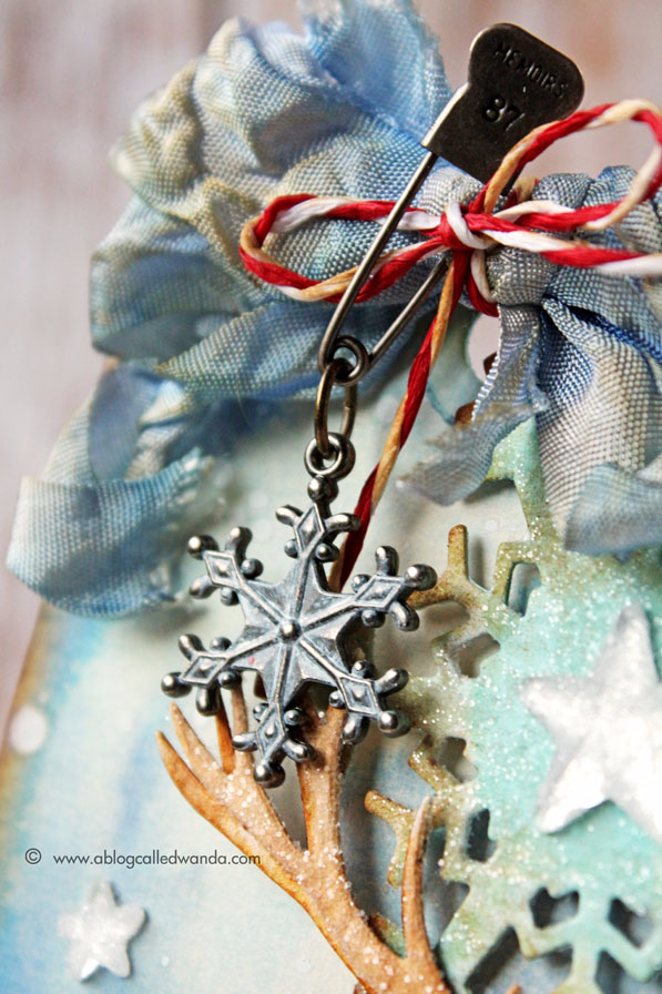 Tim Holtz dyed ribbon with Distress Ink