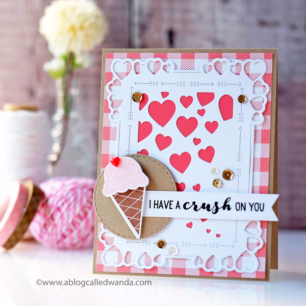 Papertrey Ink Everyday Affection stamp set and mix and mat hearts dies