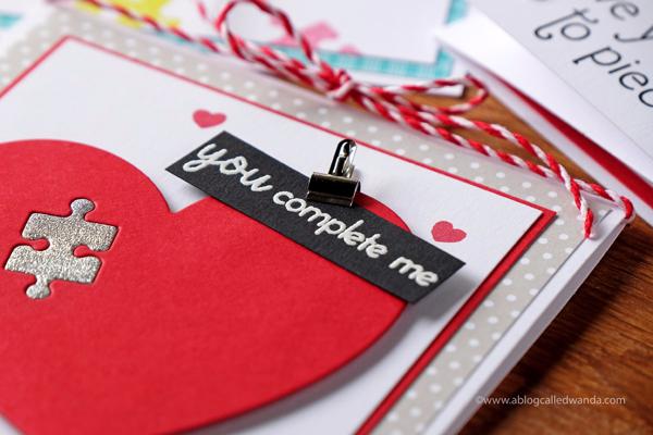 Handmade valentine card PTI Papertrey Ink