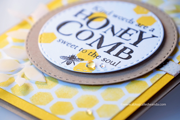 Papertrey Ink Hexagon stencils and honeycomb stamp set