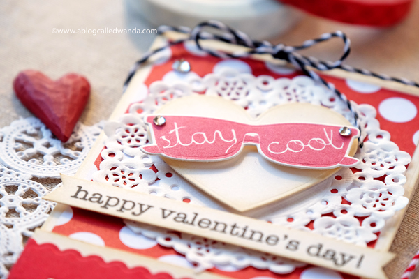 Valentine gift card holder - papertrey ink