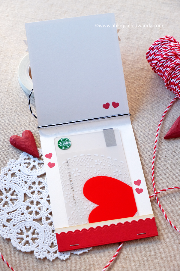 handmade valentine gift card holder