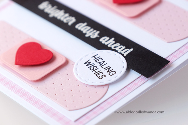 Get well card - handmade - bandaids