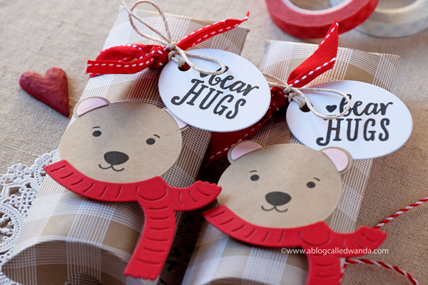 Papertrey Ink Huggable Bear Valentine Treats