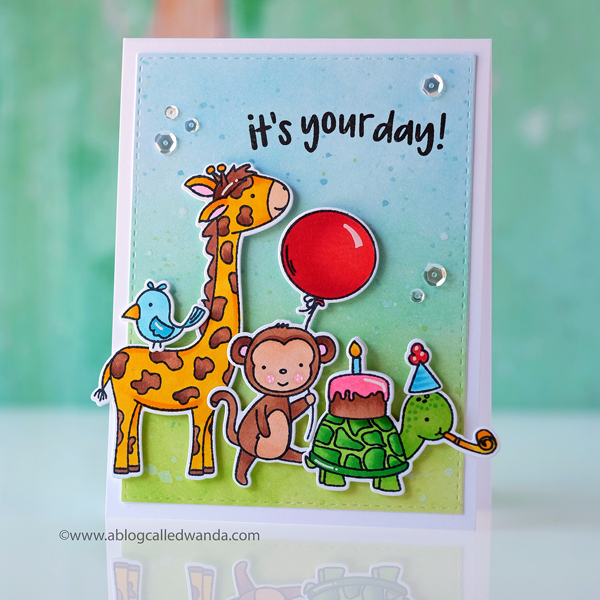 Neat and Tangled stamps Wild Ones birthday card